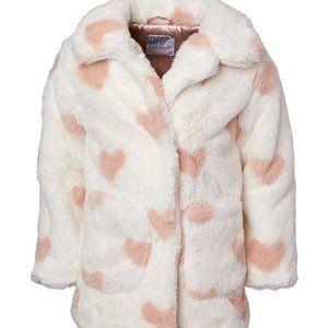 So Soft! Kensie Girl Cream Heart Walker Coat 6X